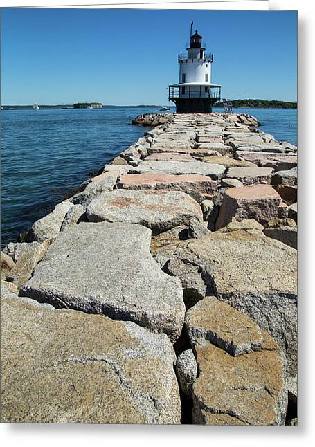 Spring Point Ledge Greeting Card by Karol Livote
