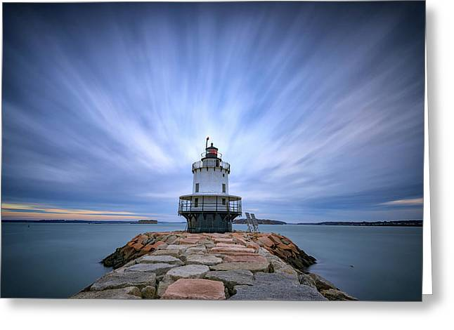 Spring Point Ledge Light Station Greeting Card