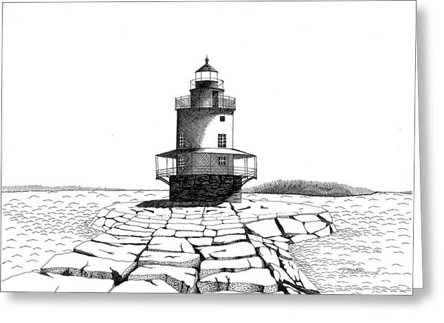 Spring Point Ledge Lighthouse Greeting Card by Tim Murray