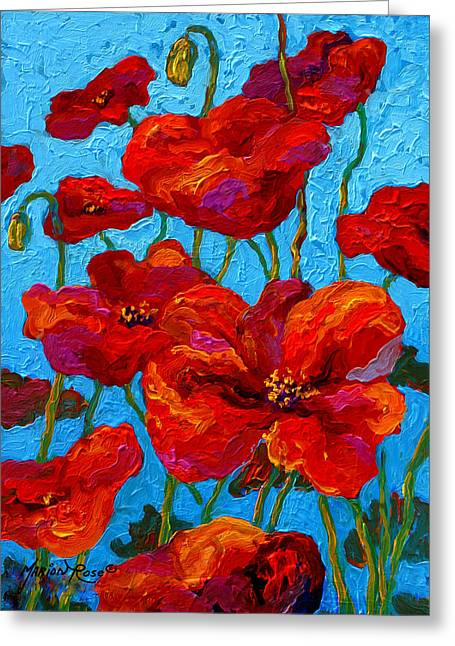 Spring Poppies Greeting Card by Marion Rose