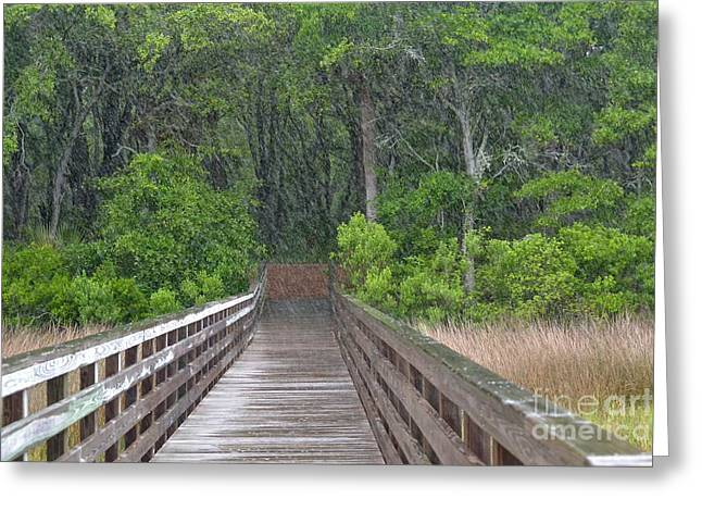 Greeting Card featuring the photograph Spring Rain by Carol  Bradley