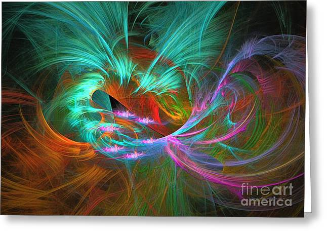 Spring Riot - Abstract Art Greeting Card