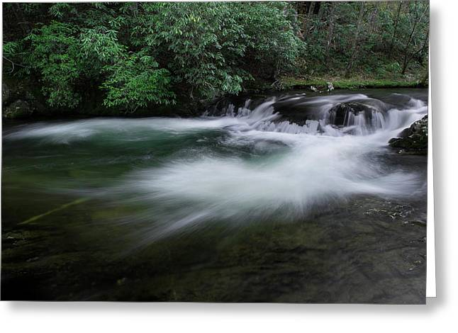 Greeting Card featuring the photograph Spring River by Mike Eingle