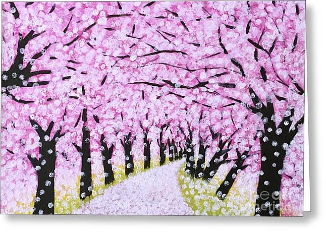 Spring Road  Greeting Card by Wonju Hulse