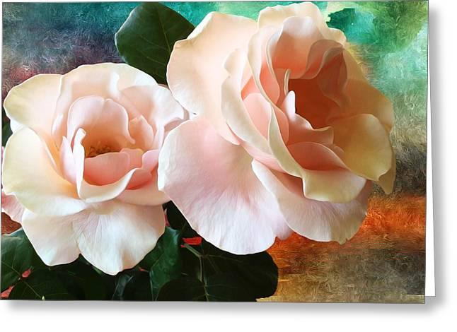 Spring Roses Greeting Card
