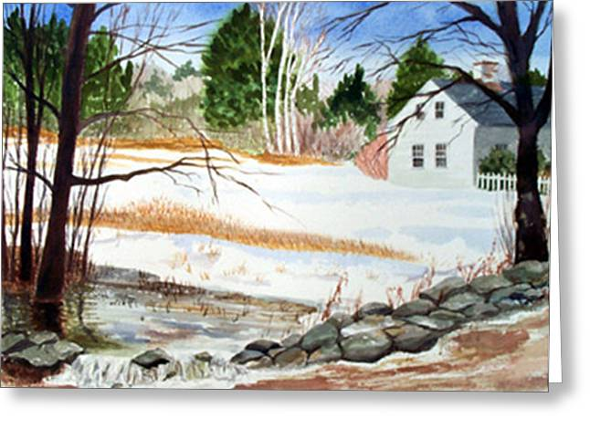 Spring Run-off Greeting Card by Anne Trotter Hodge