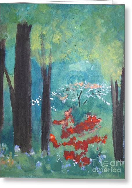 Greeting Card featuring the painting Spring by Sandy McIntire