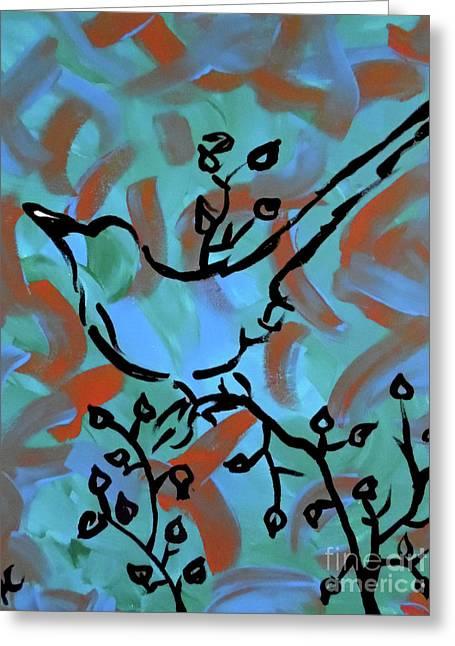 Spring Scene II Greeting Card by Jilian Cramb - AMothersFineArt