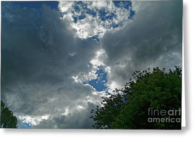 Spring Shower Clouds Greeting Card