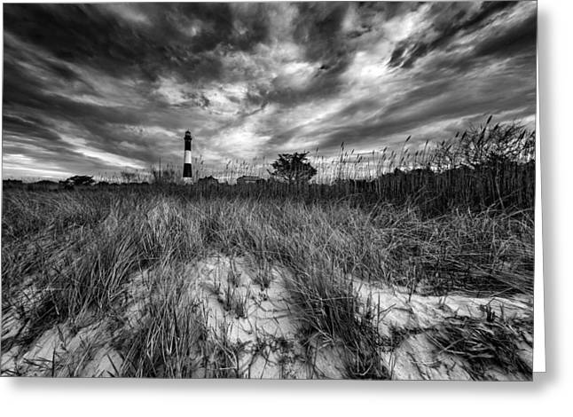 Spring Sky At Fire Island Greeting Card by Rick Berk