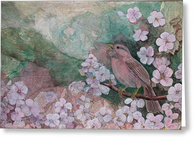 Spring Song Greeting Card by Sandy Clift