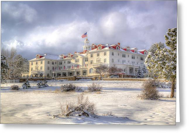 Spring Storm At The Stanley Hotel Greeting Card