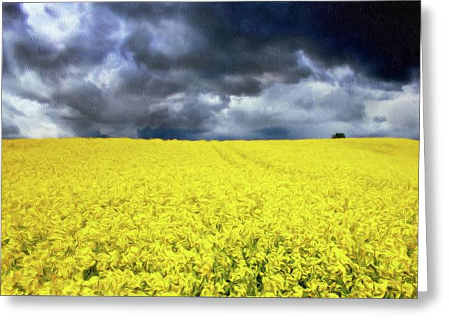 Spring Storm In Australia Greeting Card by Georgiana Romanovna