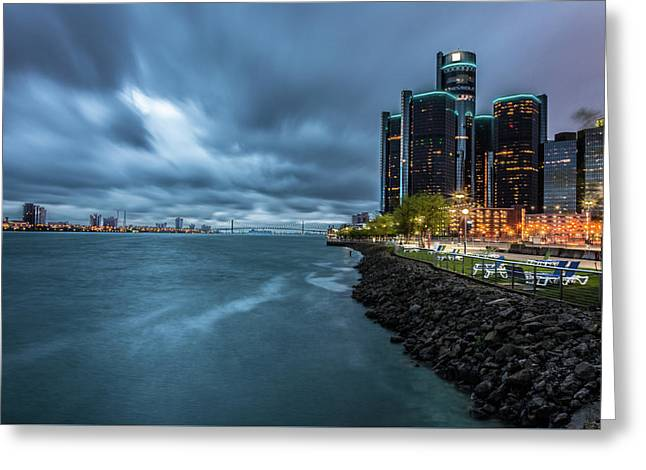 Storm Season In Detroit  Greeting Card by Pravin Sitaraman