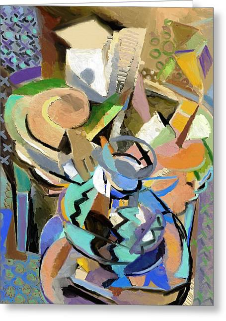 Greeting Card featuring the digital art Spring Studio II by Clyde Semler