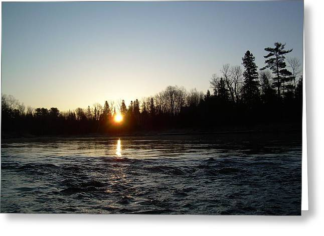 Greeting Card featuring the photograph Spring Sunrise Over Mississippi River by Kent Lorentzen