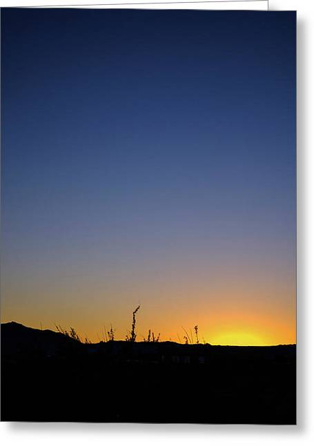 Spring Sunset Fort Mohave Az Greeting Card