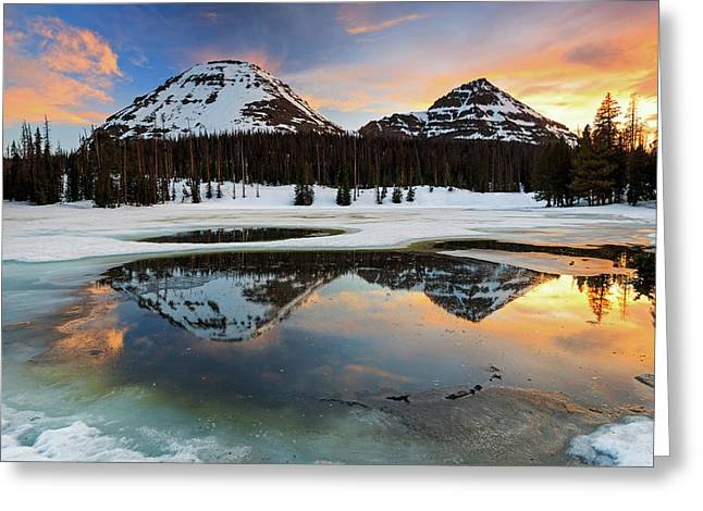 Spring Sunset In The Uinta's. Greeting Card