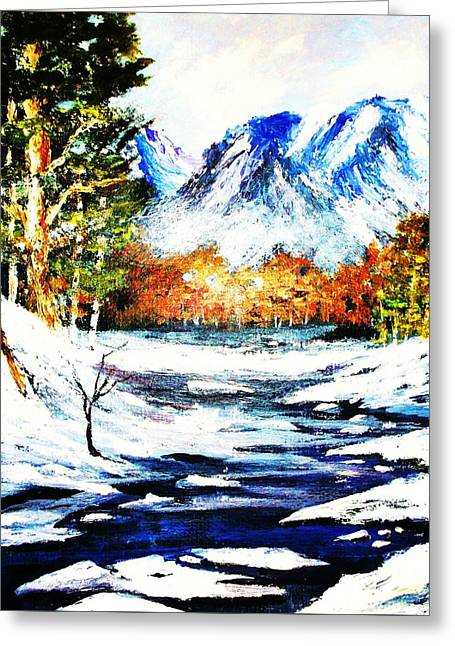 Spring Thaw Greeting Card by Al Brown