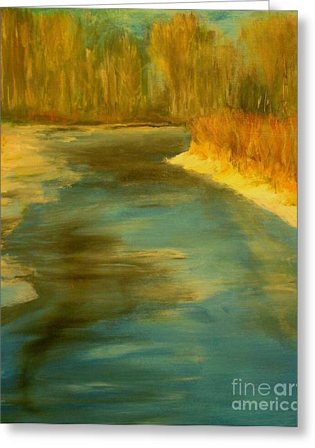 Spring Thaw Greeting Card by Julie Lueders