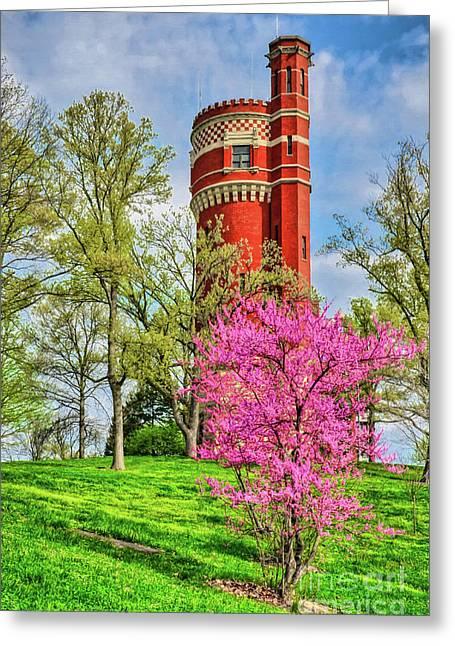 Spring Time At Cincinnati's Eden Park Greeting Card by Mel Steinhauer
