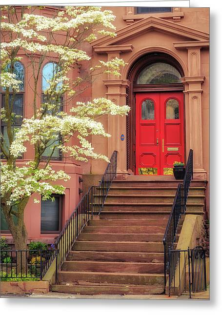 Bushnell Park Brownstone Greeting Card