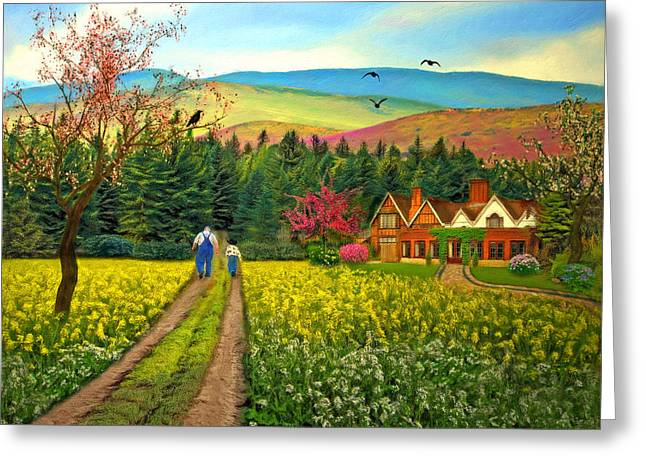 Spring Time In The Mountains Greeting Card