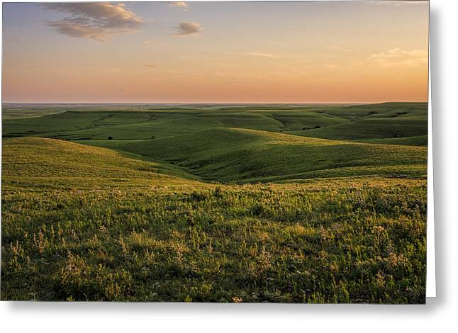 Spring Time On The Prairie Greeting Card by Scott Bean