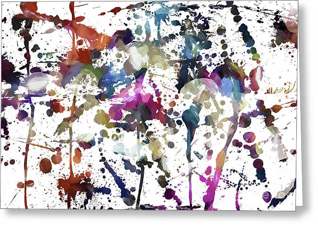 Greeting Card featuring the digital art Spring Time Splat by Margie Chapman