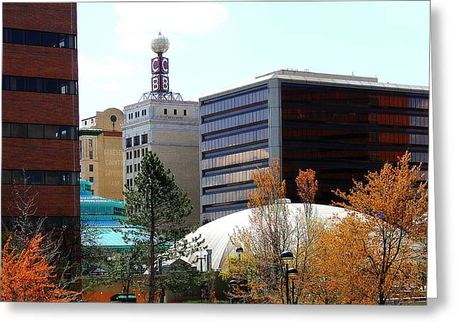 Spring Tine In Downtown Flint Michigan Greeting Card