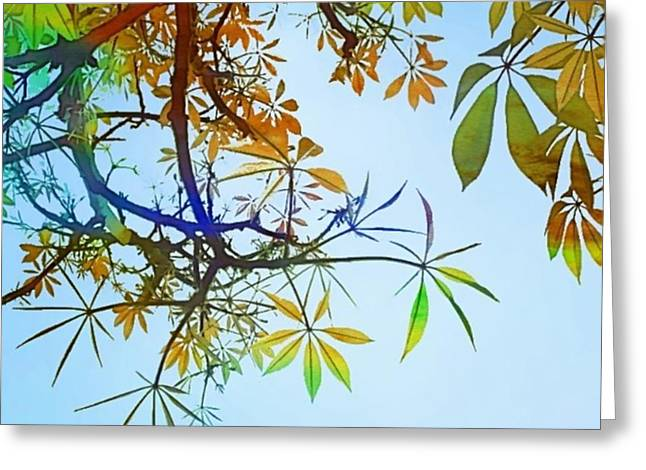 #spring #tree #leaves With #watercolor Greeting Card by Shari Warren