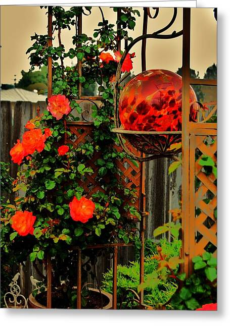 Spring Trellis Greeting Card