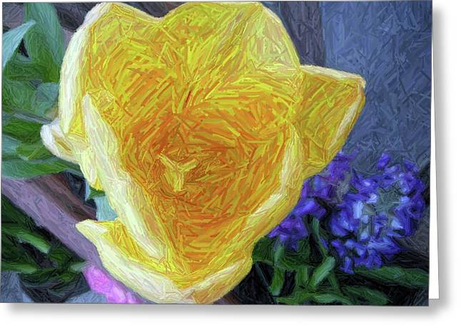 Greeting Card featuring the photograph Spring Tulip by Susan Carella
