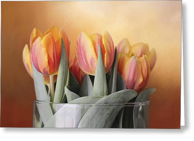 Spring Tulips Greeting Card by Kathleen Holley
