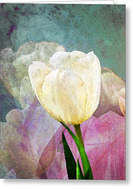 Spring Tulips Greeting Card by Moon Stumpp