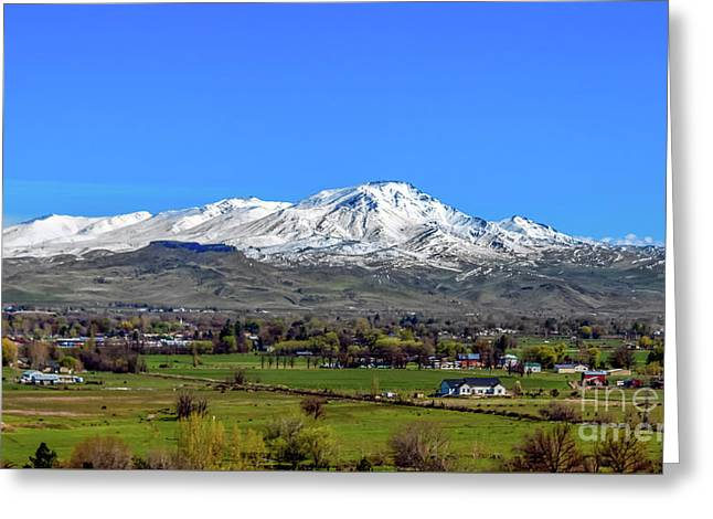 Greeting Card featuring the photograph Spring View Of Squaw Butte by Robert Bales
