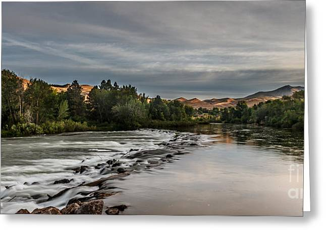 Spring View Of The Payette River Greeting Card by Robert Bales