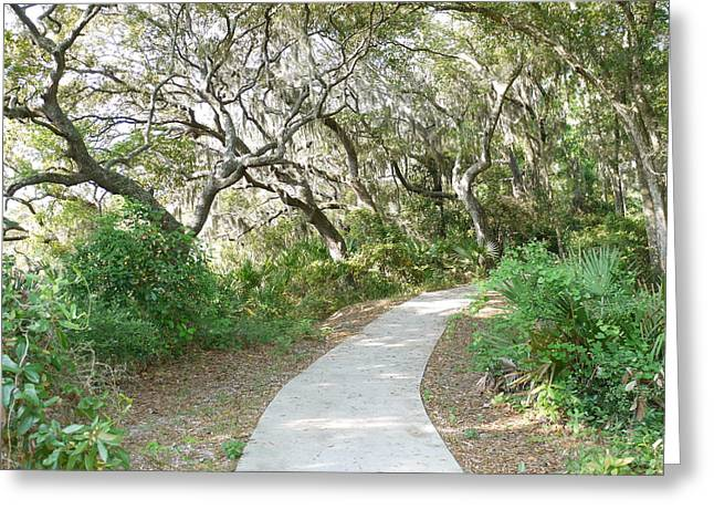 Spring Walkway Greeting Card by Bea Godwin
