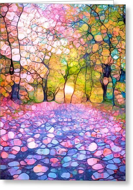 Spring Walkways Greeting Card by Tara Turner