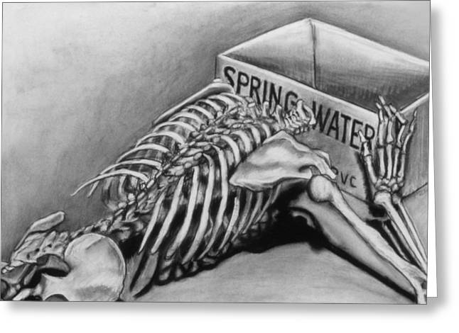 Spring Water Greeting Card by John Clum