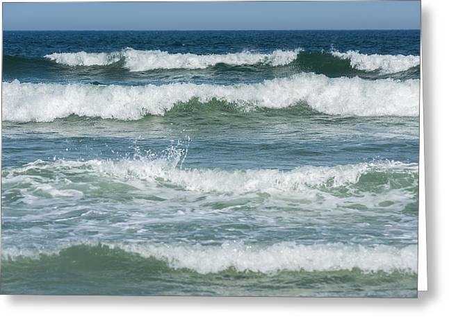 Spring Waves Seaside New Jersey Greeting Card by Terry DeLuco