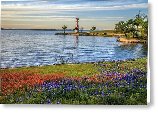 Spring Wildflowers Of Lake Buchanan Greeting Card