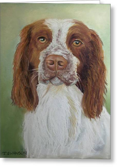 Spaniel Pastels Greeting Cards - Springer Spaniel Greeting Card by Joan Swanson