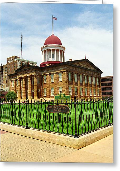 Springfield Illinois - Old State Capitol Greeting Card