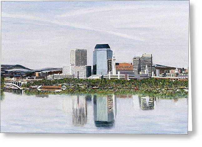 Springfield Reflections Greeting Card by Richard Nowak