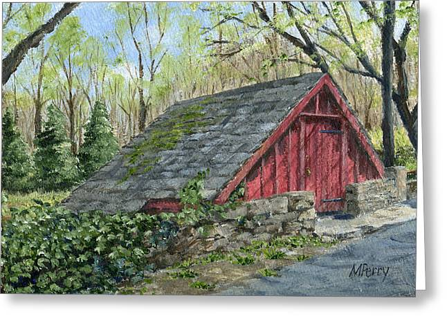 Springhouse At Cuttalossa Greeting Card
