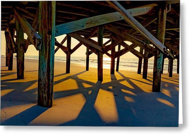 Springmaid Pier At Sunrise Greeting Card