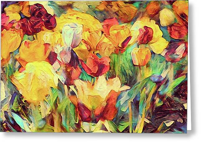 Spring's First Tulips Greeting Card