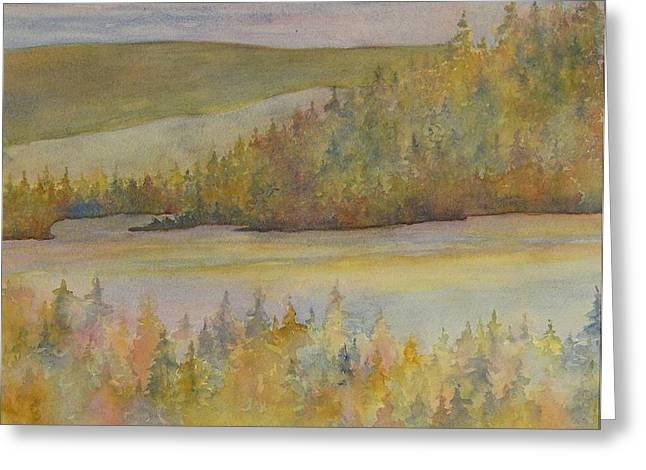 Springs In The Valley Greeting Card by Lisa Bell