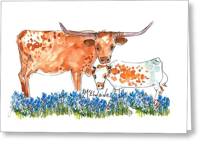 Springs Surprise Watercolor Painting By Kmcelwaine Greeting Card
